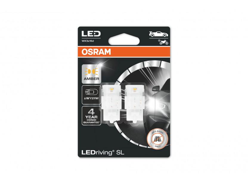Комплект 2 броя LED лампи Osram тип WY21W кехлибар, 12V, 55LM, 1.30W, WX3x16d