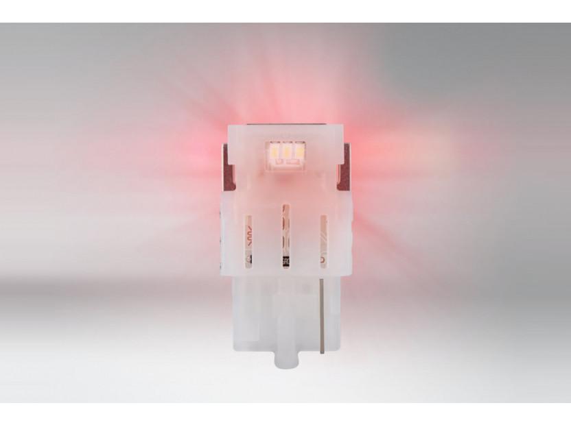 Комплект 2 броя LED лампи Osram тип W21W червени, 60LM, 12V, 1.40W, W3x16d 2
