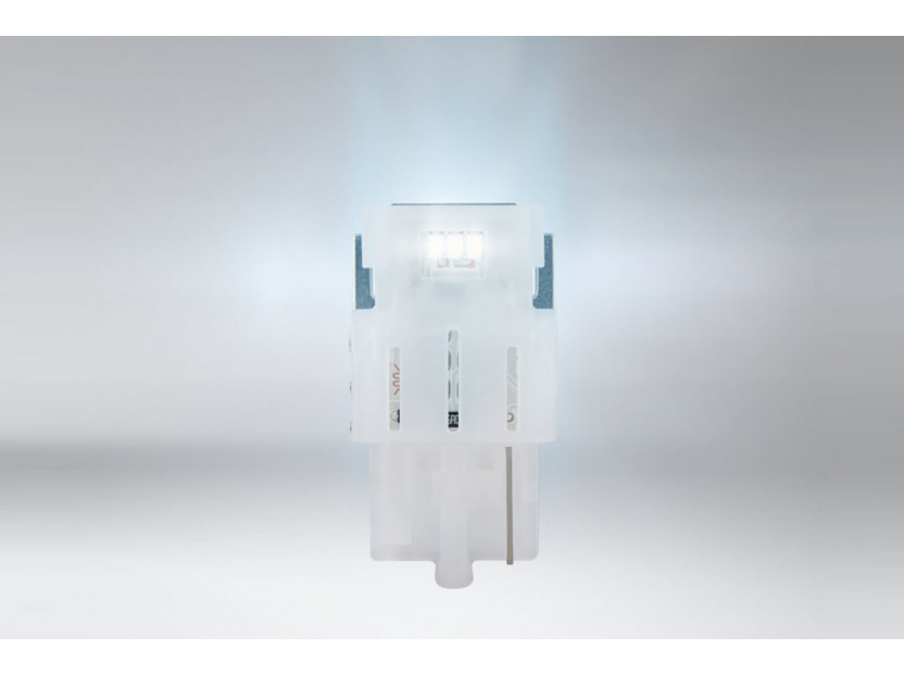 Комплект 2 броя LED лампи Osram тип W21W бели 6000K, 145LM, 12V, 2W, W3x16d 2