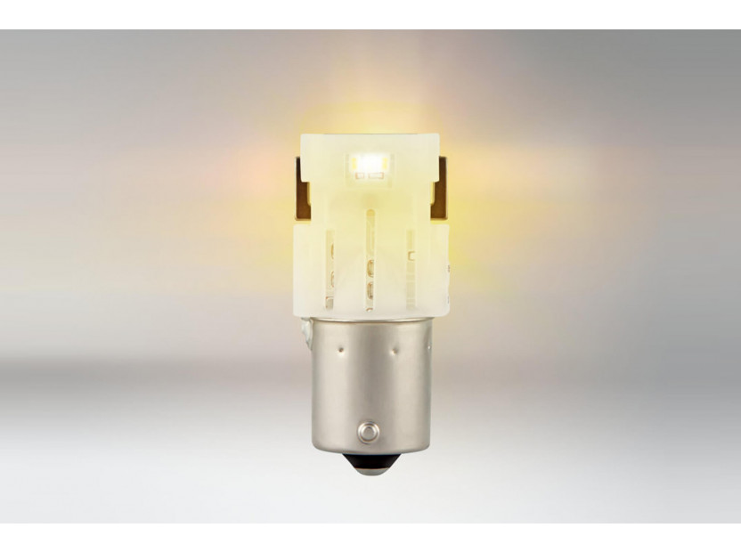Комплект 2 броя LED лампи Osram тип PY21W кехлибар, 50LM, 12V, 1.30W, BAU15s 2