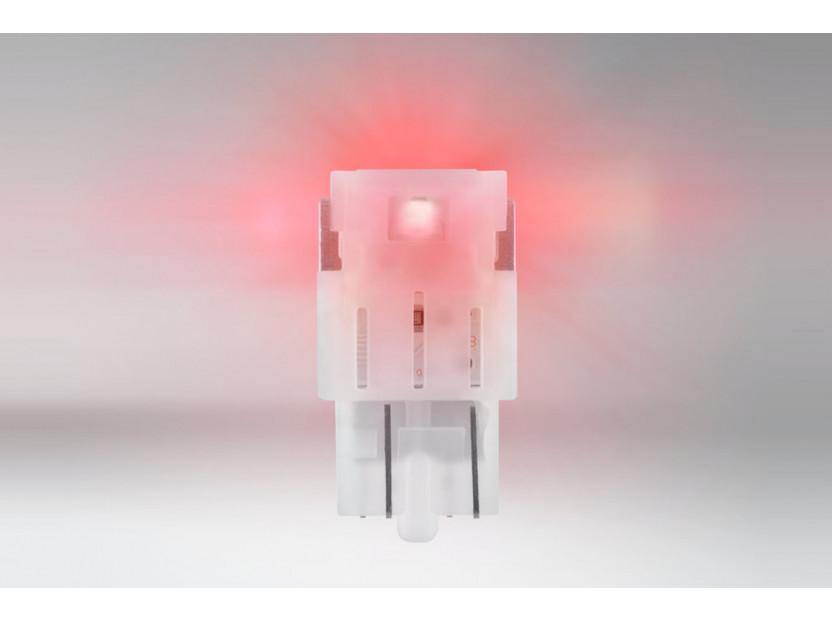 Комплект 2 броя LED лампи Osram тип W21/5W червени, 80LM, 12V, 1.70W, W3x16q 2