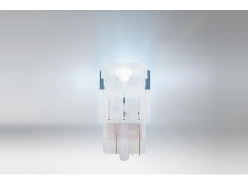 Комплект 2 броя LED лампи Osram тип W21/5W бели 6000K, 155LM, 12V, 1.90W, W3x16q 2