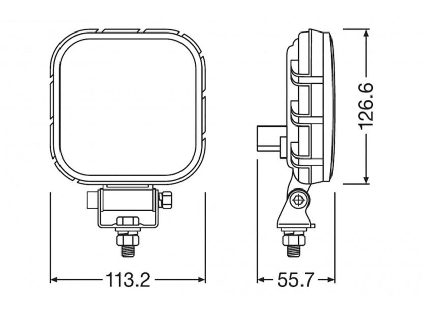 Квадратен LED бар Osram за задна светлина, 2700K, 1100LM,  15W, 12/24V, IP69K, E-mark E9 6