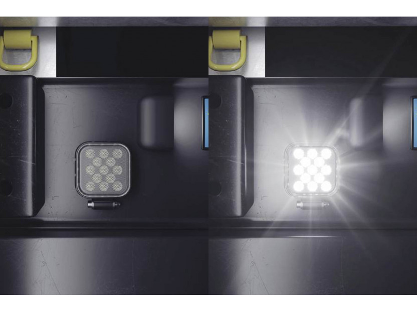 Квадратен LED бар Osram за задна светлина, 2700K, 1100LM,  15W, 12/24V, IP69K, E-mark E9 8