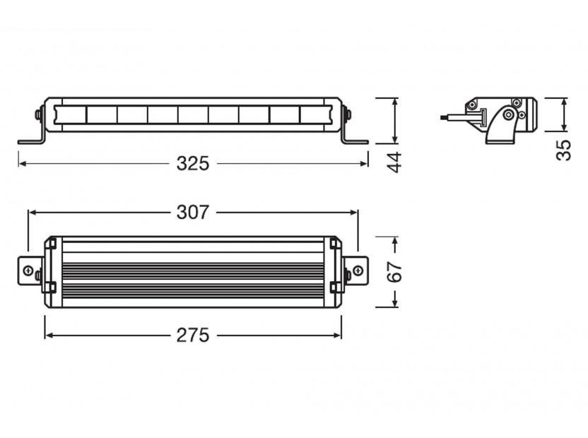 LED бар Osram 275x36x67mm, 6000K, 1500LM, 27W, 12/24V, IP67, E-mark E4 7