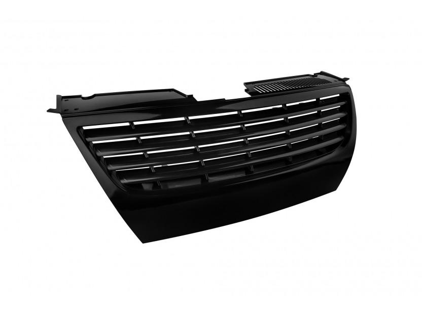 Черна решетка без емблема за VW Passat 2005-2010 без отвори за парктроник 2