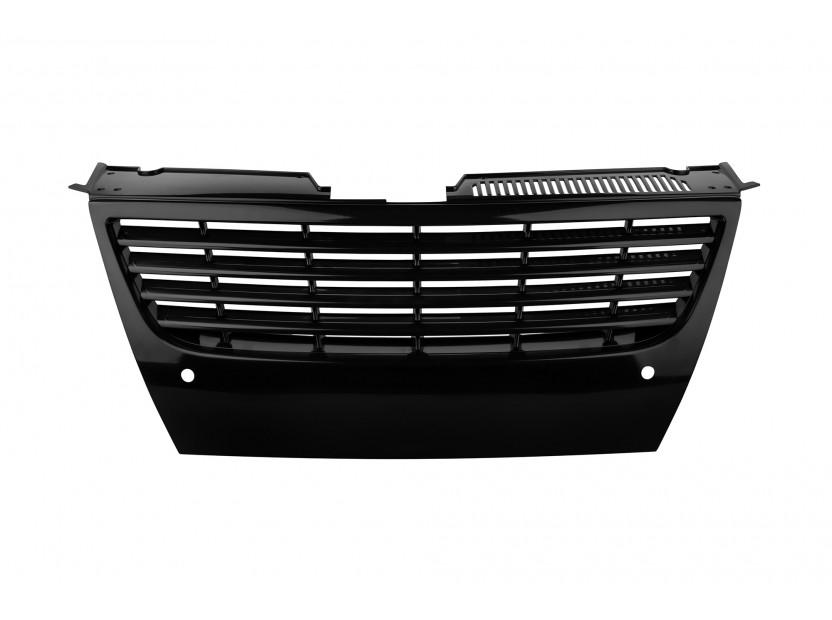 Черна решетка без емблема за VW Passat 2005-2010 с отвори за парктроник