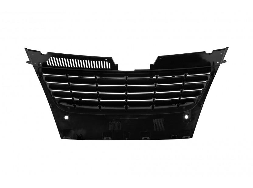 Черна решетка без емблема за VW Passat 2005-2010 с отвори за парктроник 3