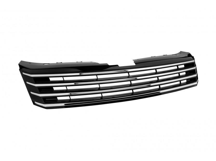 Хром/черна решетка без емблема за VW Passat 2010-2014 2