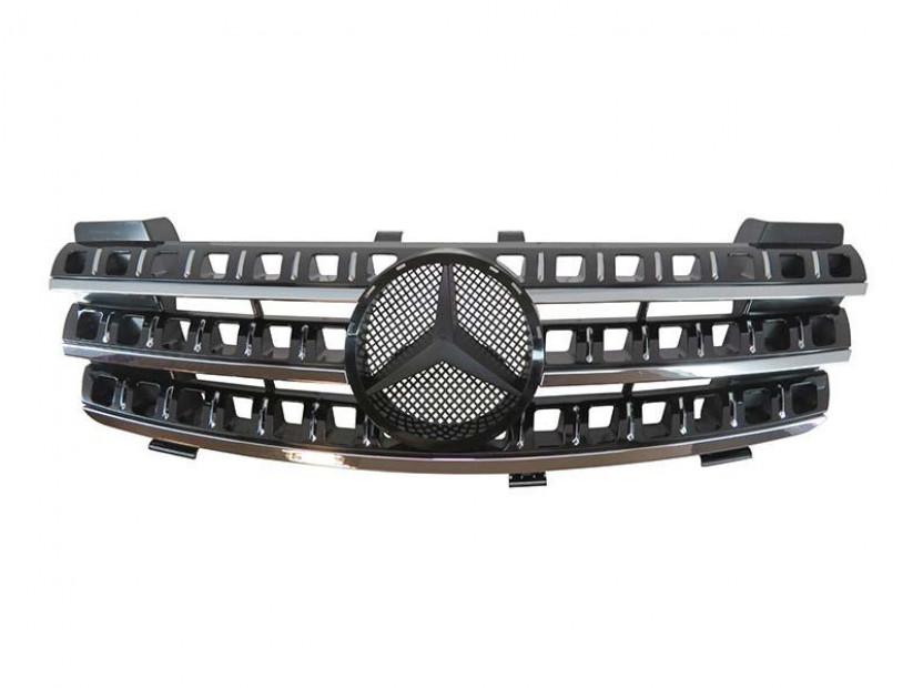 Хром/черна решетка за Mercedes M класа ML W164 2005-2008