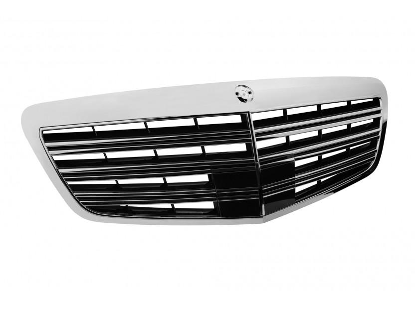 Хром/черна решетка тип AMG за Mercedes S класа W221 2009-2013 2
