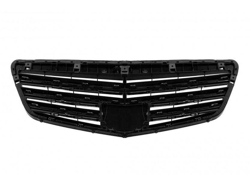 Хром/черна решетка тип AMG за Mercedes S класа W221 2009-2013 3