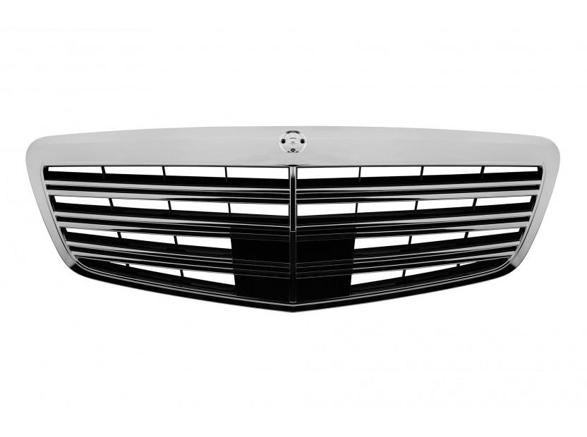 Хром/черна решетка тип AMG за Mercedes S класа W221 2009-2013