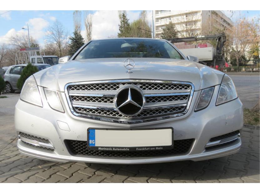 Хром/сива решетка тип AMG за Mercedes E класа W212 2009-2013 5