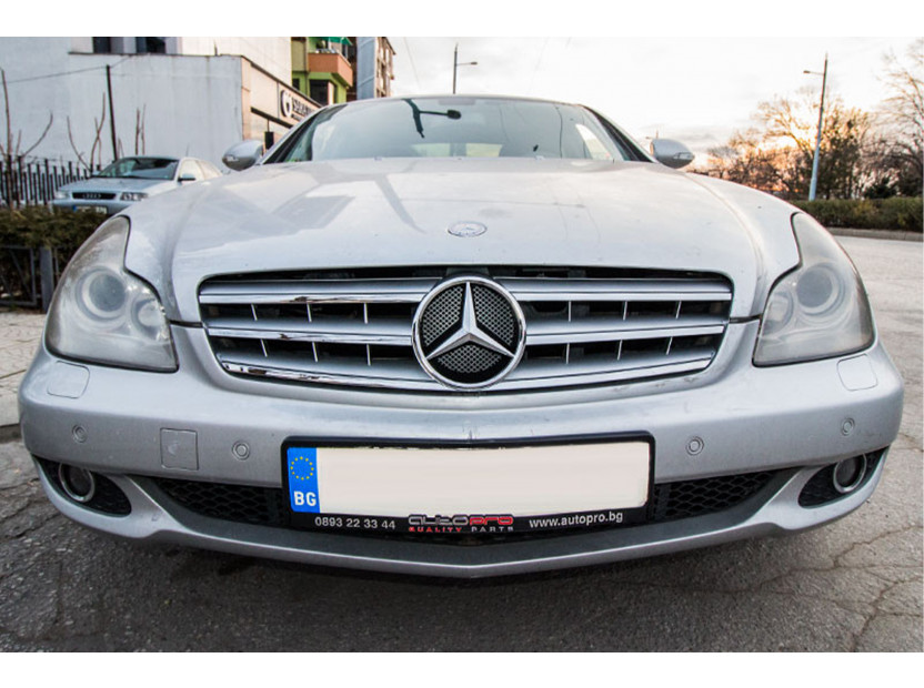 Хром/сива решетка за Mercedes CLS класа W219 2004-2008 5