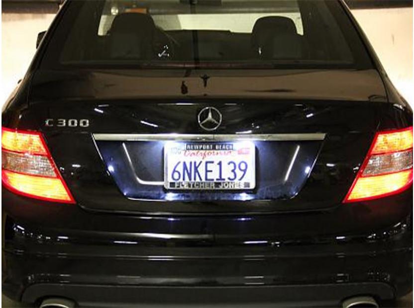 Комплект LED плафони за регистрационен номер за Mercedes C класа,SL,CLK,Chrysler Crossfire, ляв и десен 9