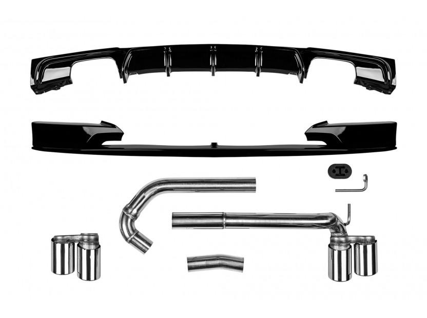 M3 Performance добавки с накрайници и дуфузьор за BMW серия 3 F30,F31 2011-2019