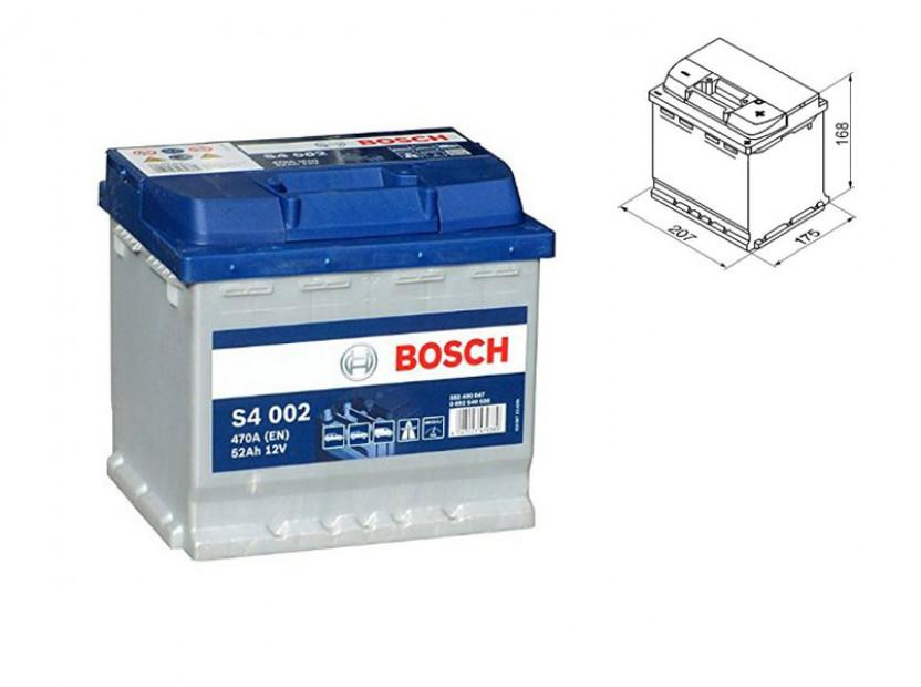 Акумулатор BOSCH Silver S4 12V 52Ah 470 A с десен (+)