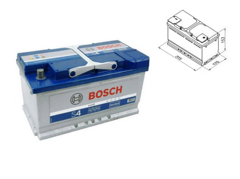 Акумулатор BOSCH Silver S4 12V 80Ah 740 A с десен (+)