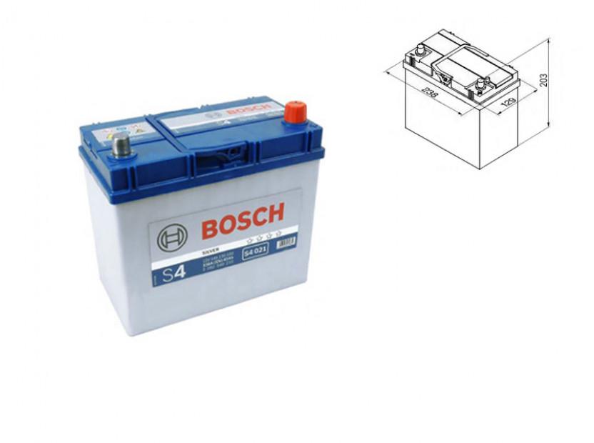 Акумулатор BOSCH Silver S4 12V 45Ah 330 A с десен (+) АЗИЯ