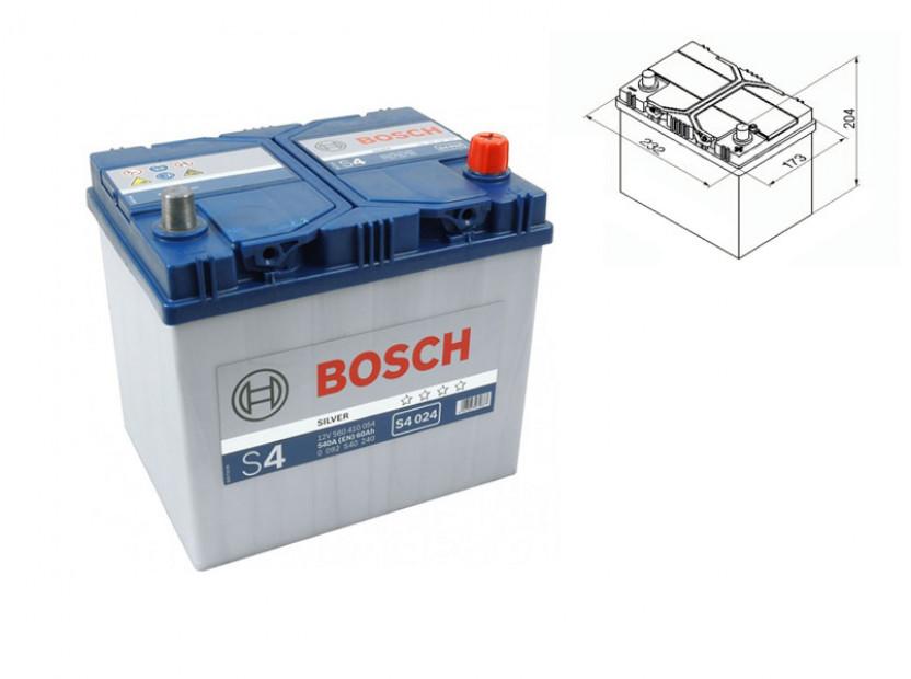 Акумулатор BOSCH Silver S4 12V 60Ah 540 A с десен (+) АЗИЯ