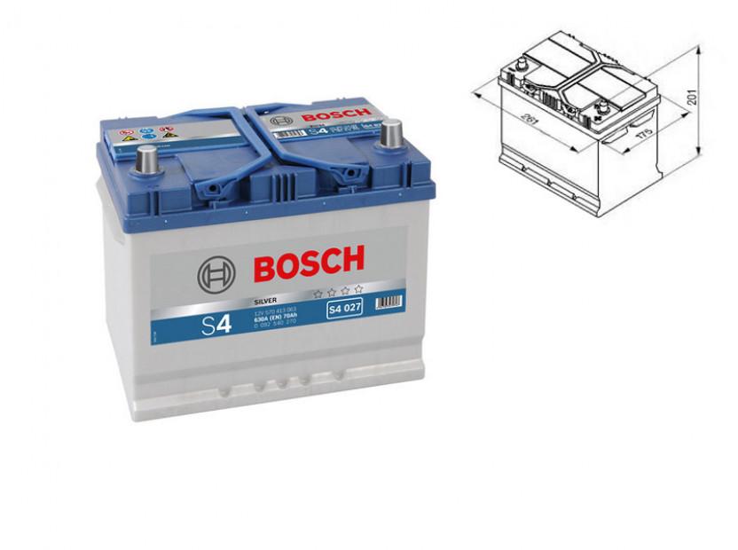 Акумулатор BOSCH Silver S4 12V 70Ah 630 A с ляв (+) АЗИЯ