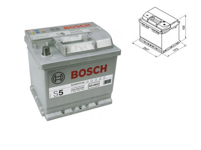Акумулатор BOSCH Silver Plus S5 12V 54Ah 540 A с десен (+)