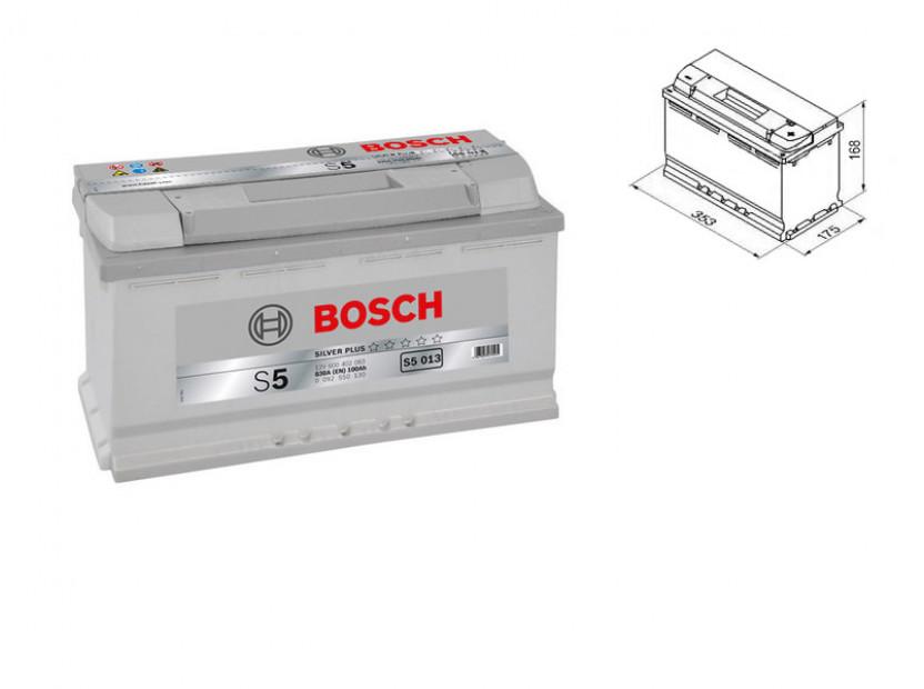 Акумулатор BOSCH Silver Plus S5 12V 100Ah 830 A с десен (+)