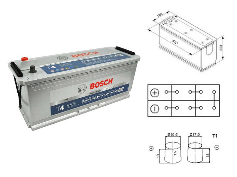 Акумулатор BOSCH TECMAXX 12V 140Ah 800 A с с ляв (+)