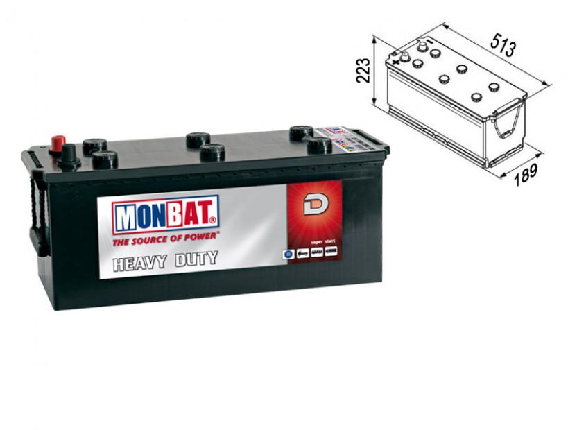 Акумулатор Monbat DYNAMIC HD 140Ah 1000 A с ляв (+)