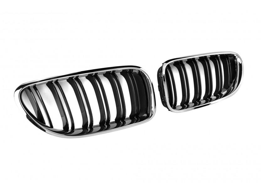 Бъбреци хром/черни за BMW серия 6 F06/F12/F13 след 2011 година 2