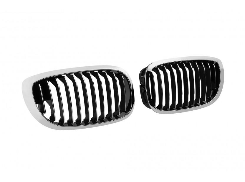 Бъбреци хром/черни за BMW серия 3 E46 купе, кабрио 2003-2006 2