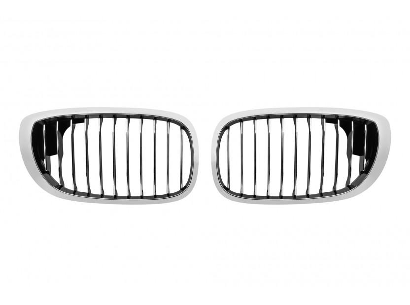 Бъбреци хром/черни за BMW серия 3 E46 купе, кабрио 2003-2006