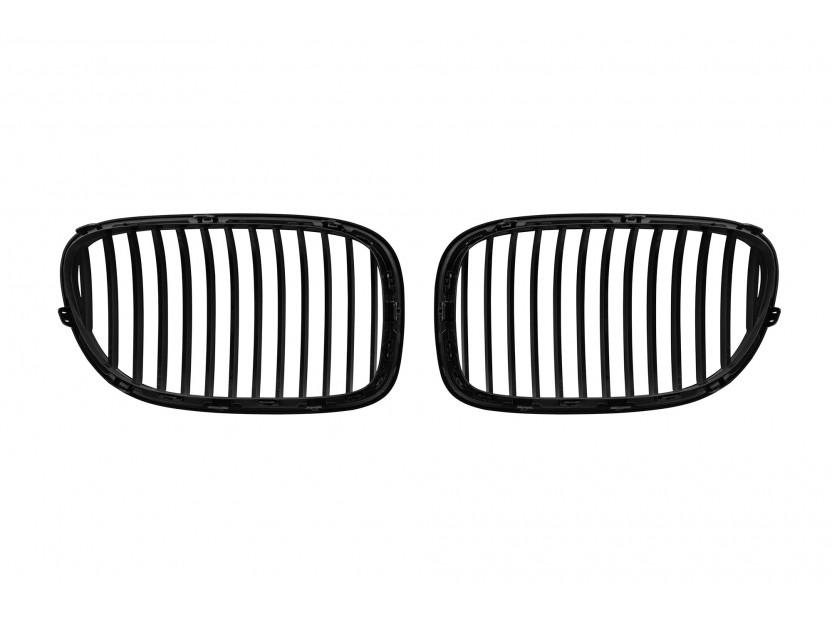 Бъбреци черен мат за BMW серия 7 F01 къса база, F02 дълга база 2008-2015 3