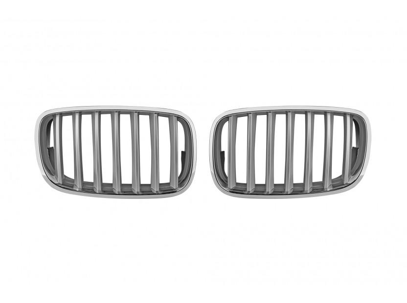 Бъбреци хром/сиви за BMW X5 E70 2007-2013, X6 E71 2008-2011