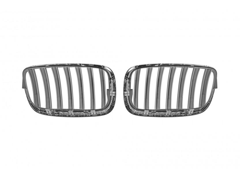 Бъбреци хром/сиви за BMW X5 E70 2007-2013, X6 E71 2008-2011 3