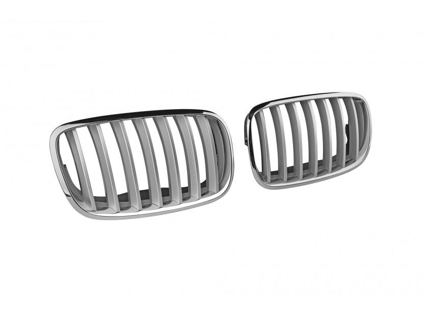 Бъбреци хром/сиви за BMW X5 E70 2007-2013, X6 E71 2008-2011 2