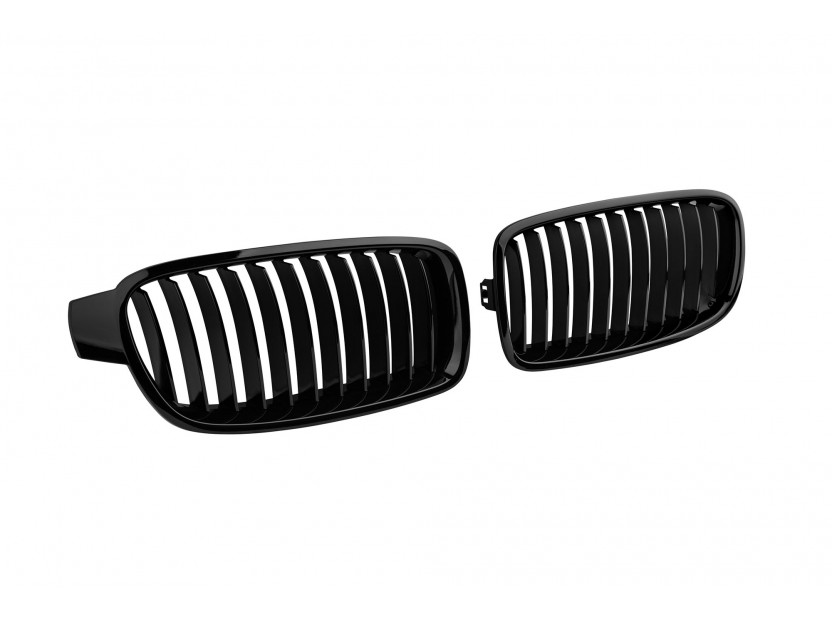 Бъбреци черен лак за BMW серия 3 F30 седан, F31 комби 2011-2019 2
