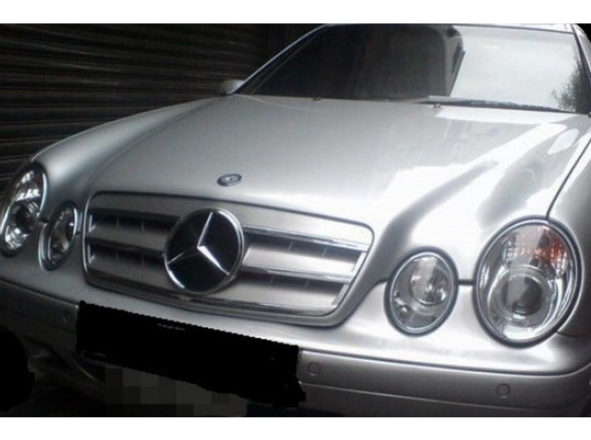 Хром/сива решетка за Mercedes CLK C208 1997-2002 5