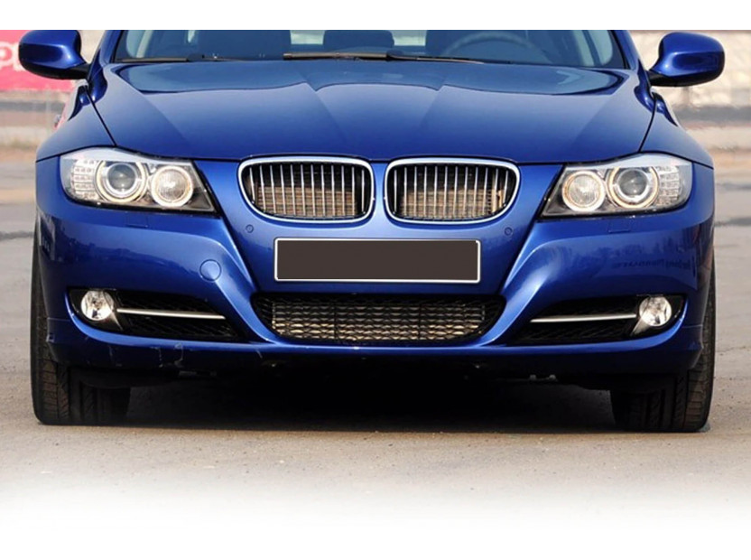 Бъбреци хром/черни за BMW серия 3 E90 седан, E91 комби 2008-2011 4
