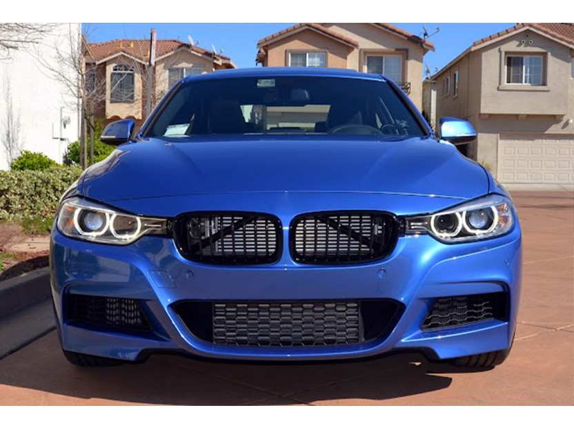 Бъбреци черен лак за BMW серия 3 F30 седан, F31 комби 2011-2019 4