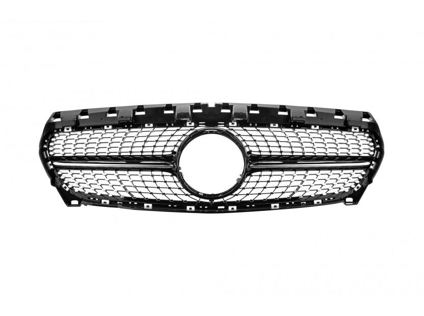 Хром/черна решетка за Mercedes CLA W117 2013-2016