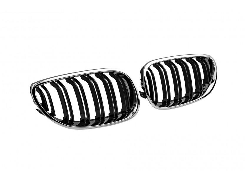 Бъбреци хром/черни тип M5 за BMW серия 5 E60/E61 2004-2010 2