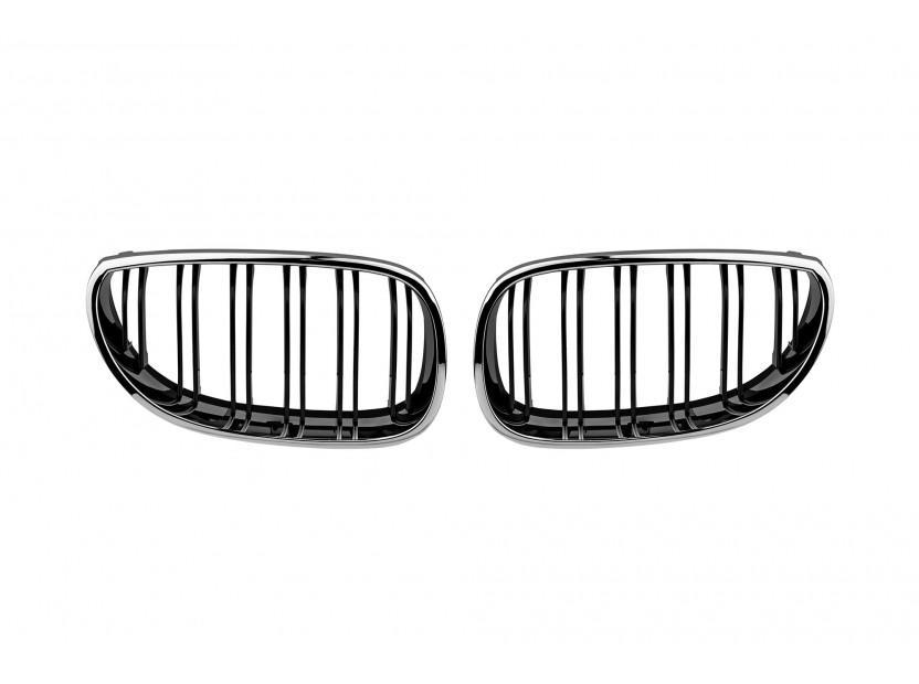 Бъбреци хром/черни тип M5 за BMW серия 5 E60/E61 2004-2010