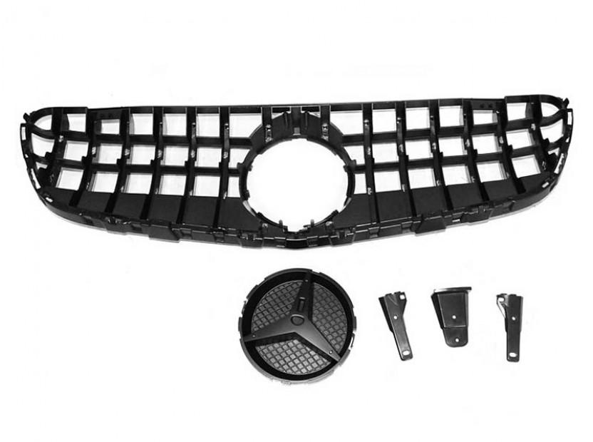 Хром/черна решетка тип GT-R за Mercedes GLC W253 след 2015 година 3