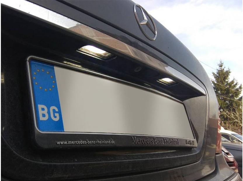 Комплект LED плафони за регистрационен номер за Mercedes S класа W220 1999-2005, ляв и десен 7