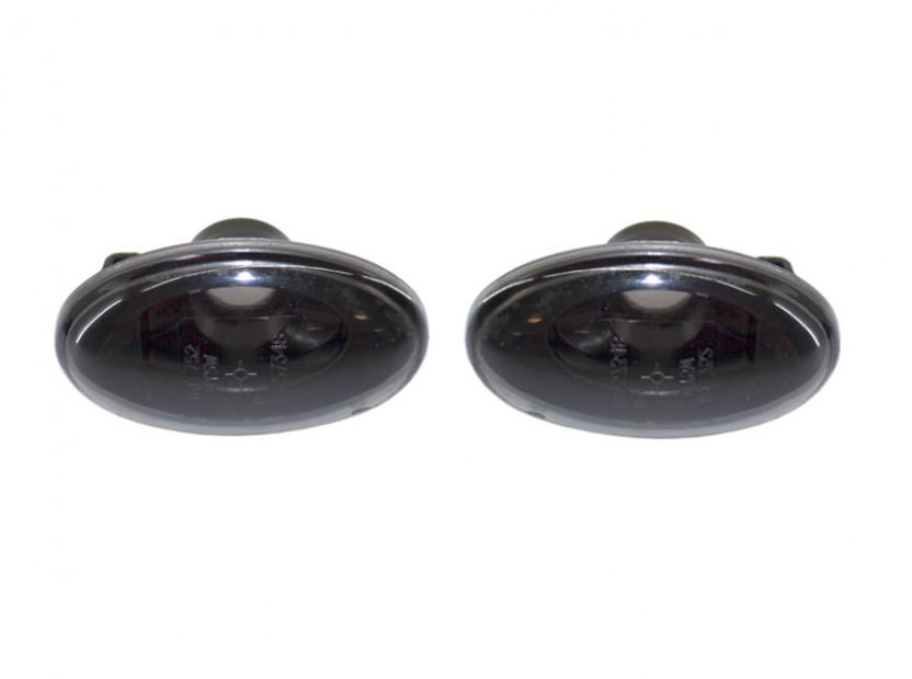 Тунинг странични мигачи за Mercedes A класа W168 1997-2000 с черна основа 2
