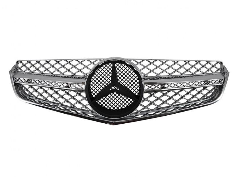 Хром/сива решетка тип AMG за Mercedes E класа купе C207 2009-2017