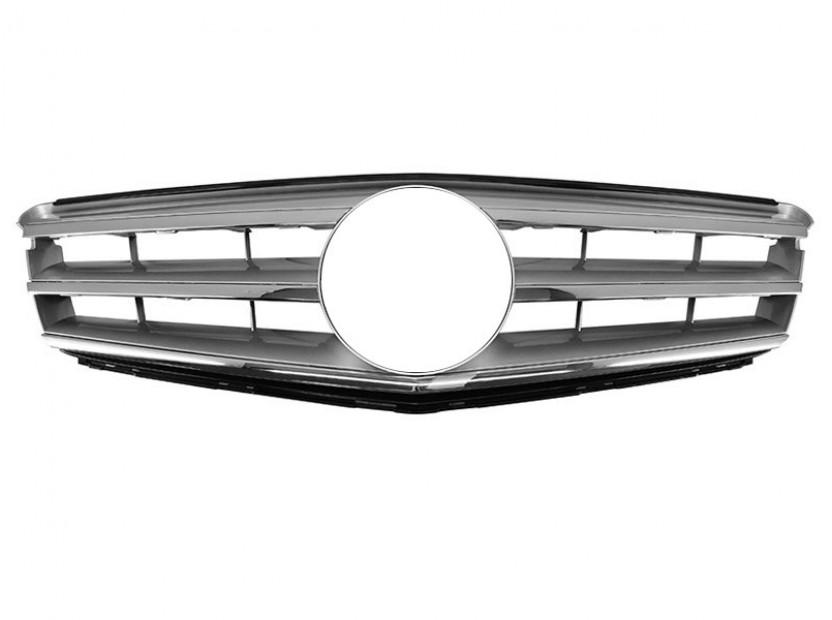 Хром/сива решетка тип Avantgarde за Mercedes C класа W204 2007-2014