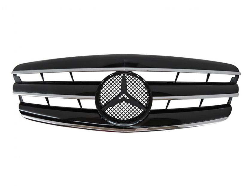 Хром/черна решетка тип CL за Mercedes S класа W221 2005-2009